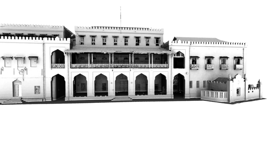 Figure 1: Screenshot of the 3D model of the front façade of the Palace Museum.