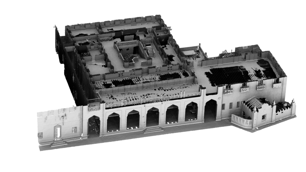 Figure 3: Screenshot of the 3D model of the Palace Museum with the top of the first floor removed