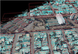 Parcel data superimposed on 3D city model