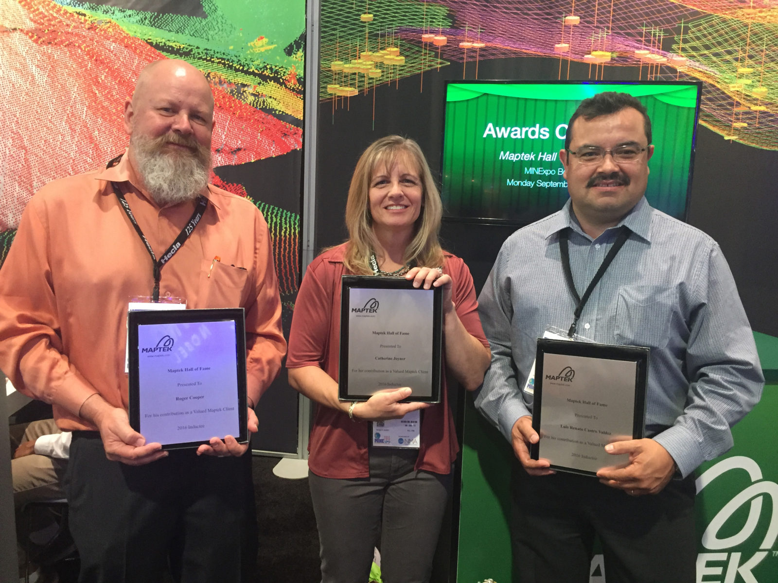 Maptek Hall of Fame2016