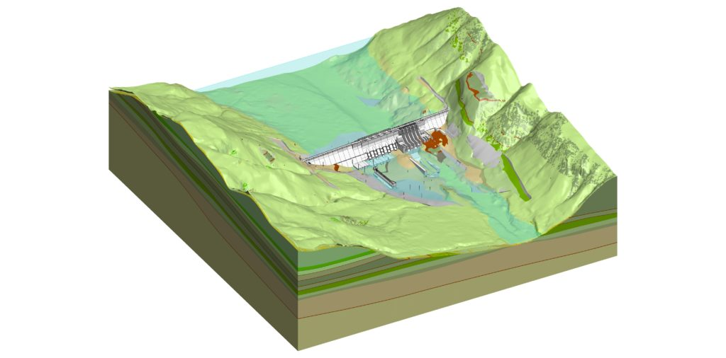 comprehensive 3d digital design on a china hydropower