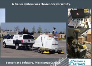 Image of Sensors and Software towed array for underground infrastructure mapping