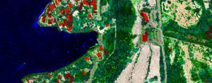 The nadir view of the single photon lidar point cloud was collected above Keauhou Bay on the Big Island of Hawaii.