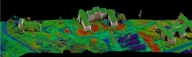 LiDAR representation by Echo using a Riegl MiniVUX -1UAV.
