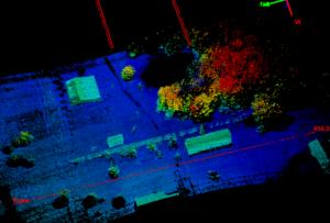 Image of Passes flown at 400 ft AGL, over 650 ft wide using UAV lidar