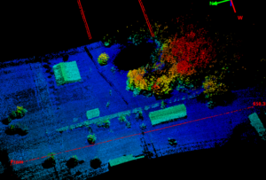Image of Passes flown at 400 ft AGL, over 650 ft wide using UAV lidar