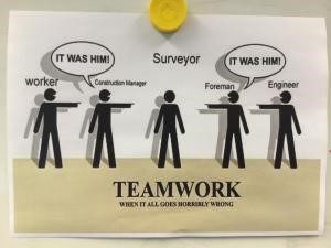Teamwork poster - Scanning for Construction