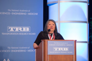 Image of presenter at TRB 2019