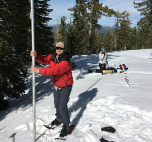 photo of survey - Aerial Lidar Assists with Snow Pack Depths - A. Harpold