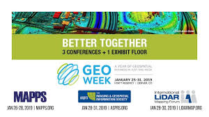 Logo for Geo Week MAPPS, ILMF and ASPRS