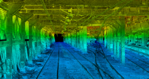 Point cloud of Mobile Surveying of Penn Station