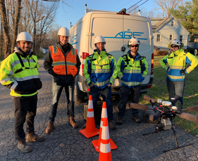 photo of ARE Team at Eversource Project in November, 2018