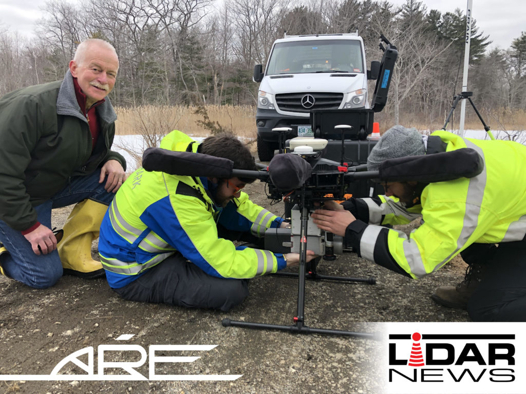 Photo of ARE Setting Up Lidar Drone