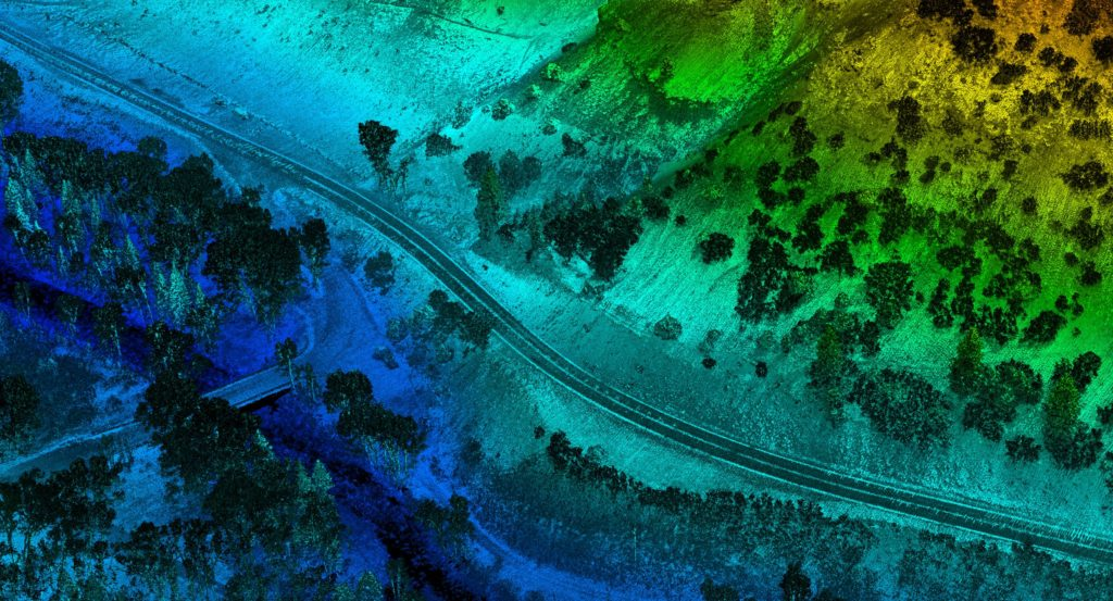 image of Highway Segmented Captured with Drone Mapping