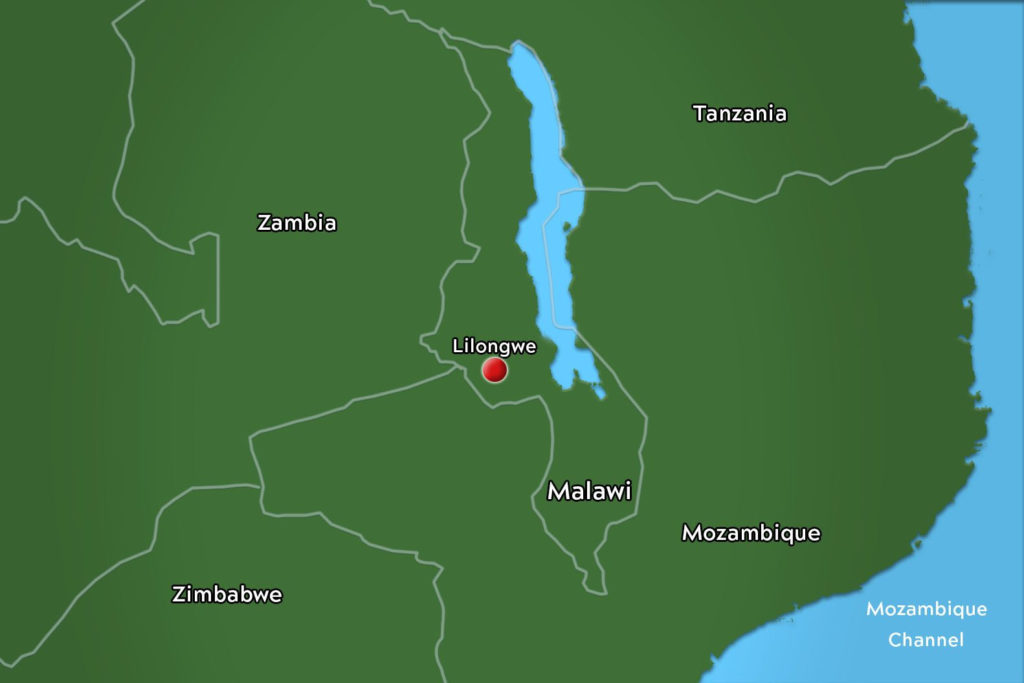 Image of Malawai Map for Virginia Tech