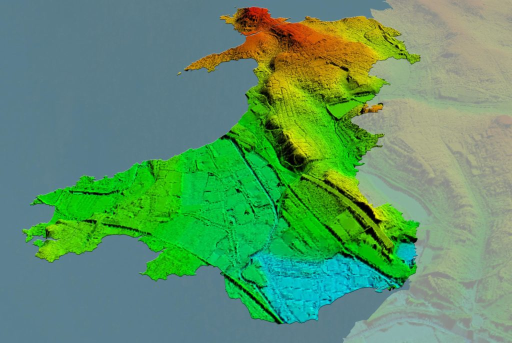 Image of: Wales 3D map